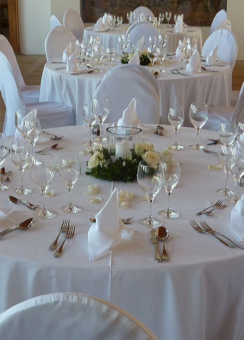 Hochzeits Tischdekoration